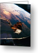 Shuttle Greeting Cards - Earth Viewed From The Space Shuttle Greeting Card by Stockbyte