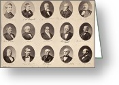 Commission Photo Greeting Cards - Electoral Commission, 1877 Greeting Card by Granger