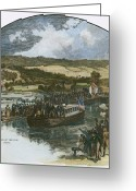 Erie Barge Canal Greeting Cards - Erie Canal Opening, 1825 Greeting Card by Granger