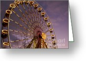 Filled Greeting Cards - Ferris wheel Greeting Card by Bernard Jaubert