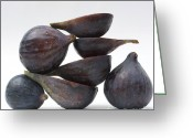 Rich Greeting Cards - Figs Greeting Card by Bernard Jaubert