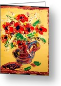 Leaned Greeting Cards Greeting Cards - Floral Greeting Card by Mark Kazav