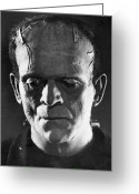 Horror Greeting Cards - Frankenstein, 1931 Greeting Card by Granger