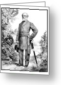 Military Hero Drawings Greeting Cards - General Robert E. Lee Greeting Card by War Is Hell Store