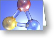 Generic Greeting Cards - Generic Molecule, Artwork Greeting Card by Pasieka