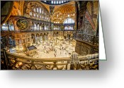 Sofya Greeting Cards - Hagia Sophia Interior Greeting Card by Artur Bogacki