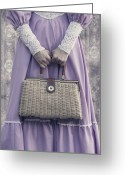 Anonymous Greeting Cards - Handbag Greeting Card by Joana Kruse