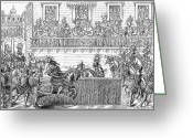 Jousting Greeting Cards - Henry Ii (1519-1559) Greeting Card by Granger