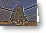Agm-114 Greeting Cards - High Dynamic Range Photo Of An  Ah-64d Greeting Card by Terry Moore