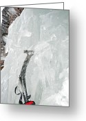 Prowess Greeting Cards - Ice Climbing Greeting Card by Mark Weber