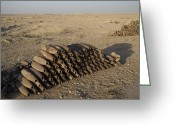 Large Group Greeting Cards - Inert Artillery Shells Are Stacked Greeting Card by Terry Moore