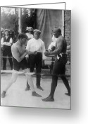 Referee Greeting Cards - Jack Johnson (1878-1946) Greeting Card by Granger