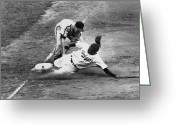 St.louis Cardinals Greeting Cards - Jackie Robinson (1919-1972) Greeting Card by Granger