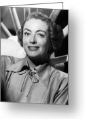 1940s Fashion Greeting Cards - Joan Crawford (1905-1977) Greeting Card by Granger
