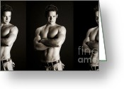 Nudes Photo Greeting Cards - Joey Greeting Card by Carl Deal