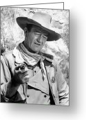 Film Still Greeting Cards - John Wayne (1907-1979) Greeting Card by Granger