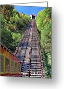 Incline Greeting Cards - Johnstown Incline Greeting Card by John Waclo