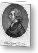 Autograph Greeting Cards - Joseph Priestley (1733-1804) Greeting Card by Granger