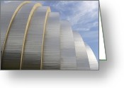 Abstract Building Greeting Cards - Kauffman Center for Performing Arts Greeting Card by Mike McGlothlen