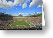 Stadium Greeting Cards - Lambeau Field  Greeting Card by Steve Sturgill