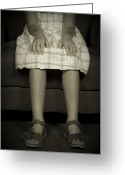 Sandals Greeting Cards - Legs Of A Girl Greeting Card by Joana Kruse