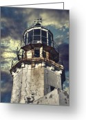 Railings Greeting Cards - Lighthouse Greeting Card by Joana Kruse