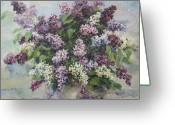 Dating Greeting Cards - Lilacs Greeting Card by Tigran Ghulyan