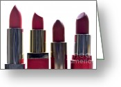 Makeup Greeting Cards - Lipsticks Greeting Card by Bernard Jaubert