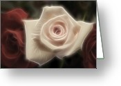 Huge Greeting Cards - 3 little Roses for Patrice Greeting Card by Kevin  Sherf