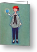 Lucille Ball Greeting Cards - Lucy Greeting Card by Ricky Sencion