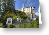 Sanctuary Greeting Cards - Madonna del Sasso - Locarno Greeting Card by Joana Kruse