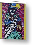 Highsmith Greeting Cards - Mardi Gras Mural Art - New Orleans Louisiana Greeting Card by Carol M Highsmith