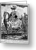 Side Saddle Greeting Cards - Marquise De Pompadour Greeting Card by Granger