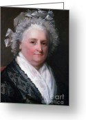 (first Lady) Greeting Cards - Martha Washington, American Patriot Greeting Card by Photo Researchers