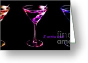 James Bond Greeting Cards - 3 Martini Lunch Greeting Card by Wingsdomain Art and Photography