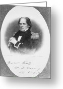 Autograph Photo Greeting Cards - Matthew Fontaine Maury Greeting Card by Granger