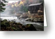 Glade Mill Greeting Cards - McConnells Mill Greeting Card by Emmanuel Panagiotakis