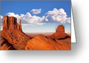Mesa Greeting Cards - Monument Valley Greeting Card by Jane Rix