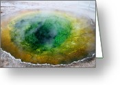 Hot Springs Greeting Cards - Morning Glory Yellowstone Greeting Card by Pierre Leclerc