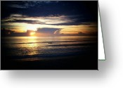 Jensen Beach Greeting Cards - Morning Kayak Greeting Card by Joyce L Kimble