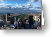 Landscapes Photo Greeting Cards - NYC Central Park Greeting Card by Nina Papiorek