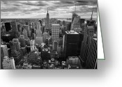 Manhattan Greeting Cards - NYC Empire Greeting Card by Nina Papiorek