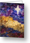 Star Of Bethlehem Greeting Cards - Oh Bethlehem Greeting Card by Deborah Gall
