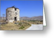 Middle Ages Greeting Cards - Paros - Cyclades - Greece Greeting Card by Joana Kruse