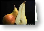 Rosaceae Greeting Cards - Pears Greeting Card by Bernard Jaubert
