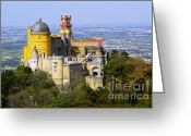 World Culture Greeting Cards - Pena Palace Greeting Card by Carlos Caetano