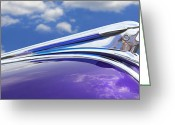 Puffy Greeting Cards - Pontiac Hood Ornament Greeting Card by Mike McGlothlen