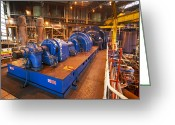 Most Greeting Cards - Power Station Turbine Hall Greeting Card by Colin Cuthbert