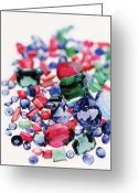 Valuable Greeting Cards - Precious Gemstones Greeting Card by Lawrence Lawry