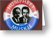 Hubert Greeting Cards - Presidential Campaign, 1968 Greeting Card by Granger